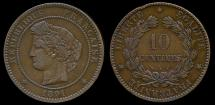 World Coins - 1891 A France 10 Centimes XF
