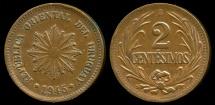 World Coins - 1945 So Uruguay 2 Centesimo XF