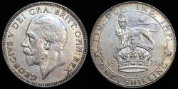 World Coins - 1926 Great Britain 1 Shilling - George V - AU