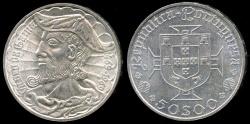 World Coins - 1969 Portugal 50 Escudos - 500th Anniversary Birth of Vasco de Gama - Silver Commemorative BU