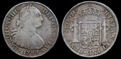 World Coins - 1799 MoFM Mexico 8 Real - Carolus IIII - VF