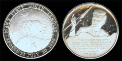 Us Coins - 1969 John F. Kennedy and the Apollo XI Lunar Landing (Canada) Silver