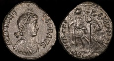 Ancient Coins - Arcadius Ae4 - VIRTVS EXERCITI - Alexandria Mint