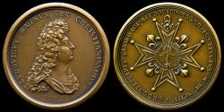 World Coins - 1693 France – Louis XIV – Creation of the Military Order of St. Louis by Jean Mauger and Hupiere