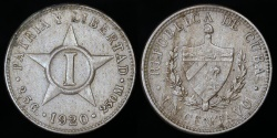 World Coins - 1920 Cuba 1 Centavo - 1st Republic - AU