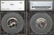 Us Coins - 1957 Washington Quarter SEGS PR64