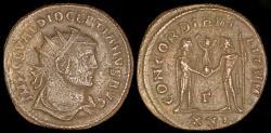 Ancient Coins - Diocletian Follis - CONCORDIA MILITVM - Heraclea Mint