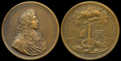 World Coins - 1674  France - Jean Baptiste Colbert Minister of Finances of France (Louis XIV) by Joseph Roettiers