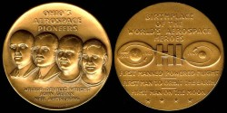 Us Coins - 1969 US: Ohio's Aerospace Pioneers commemorative medal