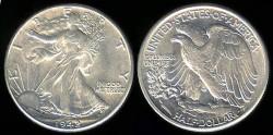 Us Coins - 1942 Walking Liberty Half Dollar UNC