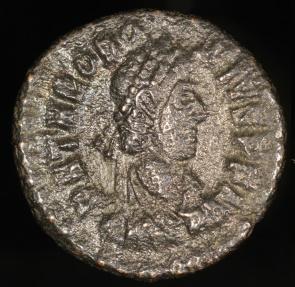 Ancient Coins - Theodosius I Ae4 - VICTORIA AVGGG - Siscia Mint