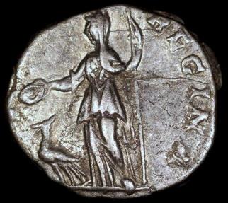 Ancient Coins - Julia Domna Denarius - IVNO REGINA - Laodicea Mint
