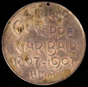 World Coins - 1907 Peru - Guiseppe Garibaldi - Italian Colony of Peru - Centennial of His Birth Commemorative Medal