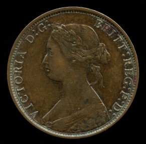 World Coins - 1873 Great Britain 1/2 Penny XF