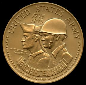 US Coins - 1975  United States - U.S. Army 1775-1975 Bicentennial Medal designed by Institute of Heraldry, U.S. Army; United States Mint. (#429)