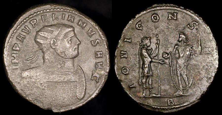 Ancient Coins - Aurelian Antoninianus - IOVI CONSER - Rome Mint