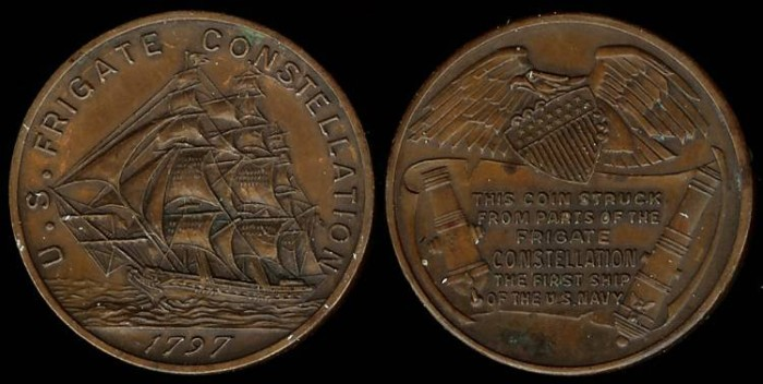 US Coins - 1797 US – Frigate Constellation Commemorative Medal