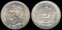 World Coins - 1965(l) Venezuela 1 Bolivar BU
