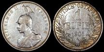 World Coins - 1905 A German East Africa 1 Rupie - Wihelm II - XF