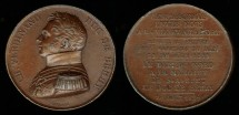 World Coins - 1829 France - Duc de Berry Commemorative Death Medal
