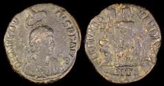 Ancient Coins - Arcadius Ae4 - GLORIA ROMANORVM - Antioch Mint