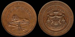 World Coins - 1880 Belgium – 13th Federal Gymnastics Fair 500th Anniversary of National Independence