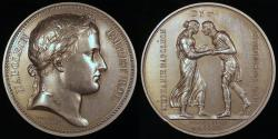 World Coins - 1806 France - Napoleon - Marriage of the Prince of Baden by Jean-Bertrand Andrieu and Dominique-Vivant Denon