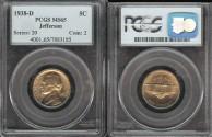 Us Coins - 1938 D Jefferson Nickel PCGS MS65