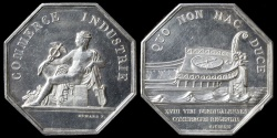 "World Coins - 1862 France - Jeton - Historical Archeology Society of Forez ""Salle de la Diana"" by Joseph Zawiski"