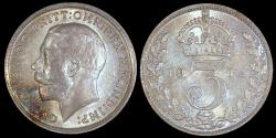 World Coins - 1912 Great Britain 3 Pence - George V - BU
