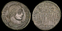 Ancient Coins - Constantine I Ae3 - GLORIA EXERCITVS - Siscia Mint