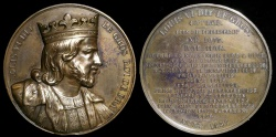 "World Coins - 1838 France - Louis VI, ""Louis the Fat"" King of France (1108-1137) by Armand-Auguste Caqué #40"