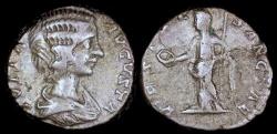 Ancient Coins - Julia Domna Denarius - VESTAE SANCTAE - Laodicea Mint