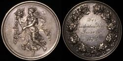 World Coins - 1894 Germany - Duren Garden Society Prize Medal by Certfi of Berlin