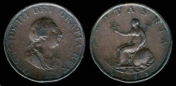 World Coins - 1799 Great Britain 1/2 Penny XF