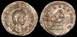 Ancient Coins - Herennia Etruscilla Antoninianus - PVDICITA AVG - Rome Mint