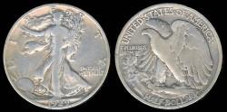 Us Coins - 1929 D Walking Liberty Half Dollar F