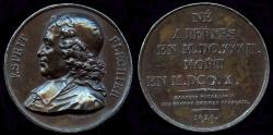 World Coins - 1826  France - Esprit Fléchier was a French preacher and author, Bishop of Nîmes by Joseph François Domard for the Gallerie Metallique des Grands Hommes Francais series.
