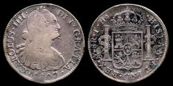 World Coins - 1807 MoTH Mexico 8 Real VF