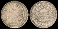 World Coins - 1872  Peru - President Manuel Pardo Constitutional Election Medal