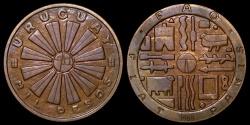 World Coins - 1969 So Uruguay 1000 Pesos - F.A.O. Bronze Issue BU