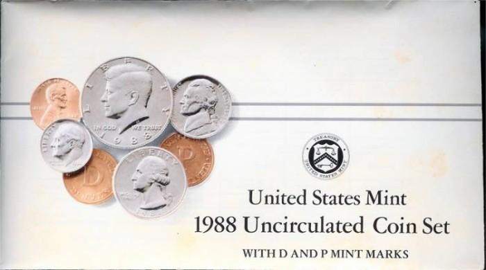 US Coins - 1988 US Mint Set