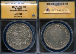 World Coins - 1837 TM North Peru 8 Real ANACS AU50