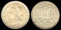 World Coins - 1963 Dominican Republic 10 Centavo UNC