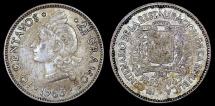 World Coins - 1963 Dominican Republic 10 Centavos XF