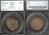 World Coins - 1893/73 so Uruguay 1 Peso SEGS AU58