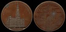 World Coins - 1847 Belgium / Brussels  -  City Hall Medal - Hotel de Ville
