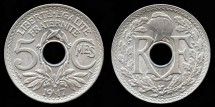 World Coins - 1917 France 5 Centimes BU