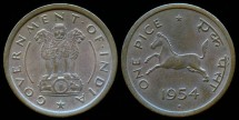 World Coins - 1954 B India (Republic) 1 Pice BU