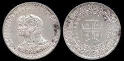 "World Coins - 1898 Portugal 500 Reis - ""400th Anniversary of the Discovery of India"" Silver Commemorative UNC"